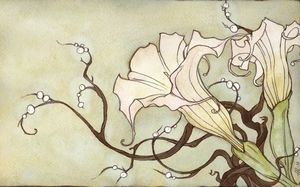 Blooming Brugmansia by Kiepurapuu