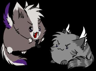 +E.C.+Blobbie Rawrz by Spottedfire-cat