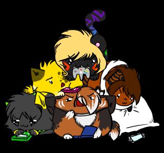 +E.C.+Blobbie Pile by Spottedfire-cat