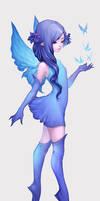 Fairy Blue by maruhana-bachi