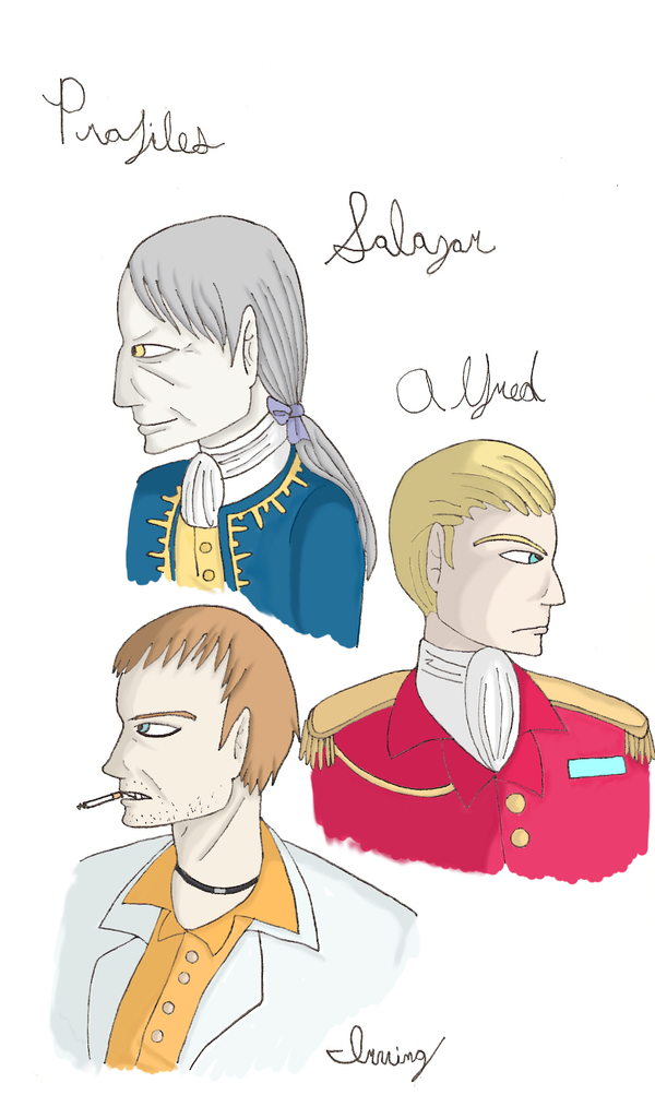 Resident Evil Profile Sketches by QueenSquirrel