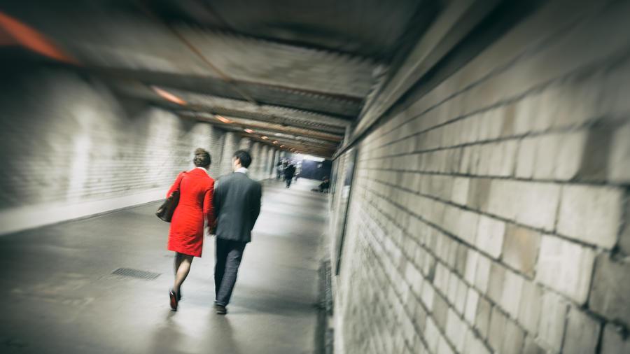 Woman in Red by Stilfoto