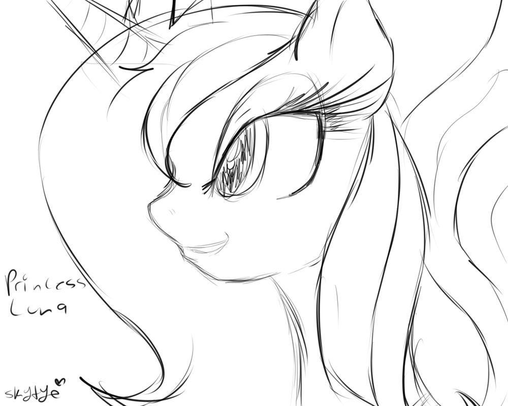 Luna Sketch by SkyTye