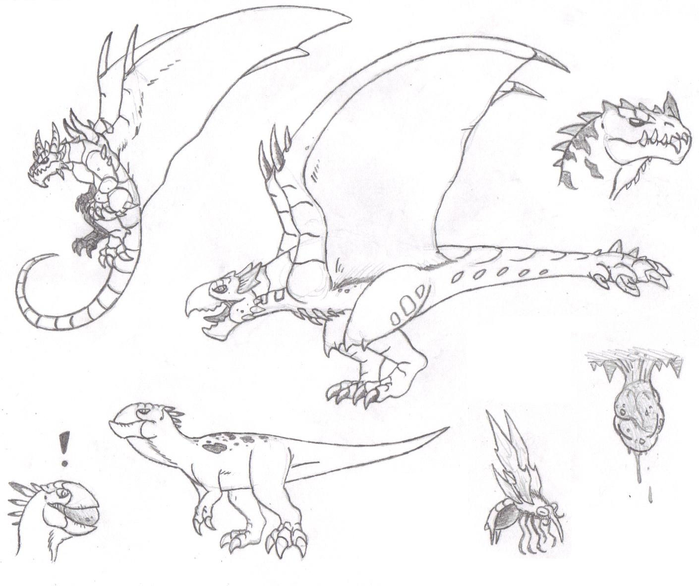 Line Drawing Monster : More monster hunter concepts by dinohunter on deviantart