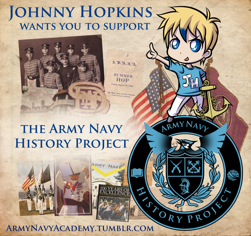 Johnny Hopkins Supports Army Navy History Project by JHUCartoons