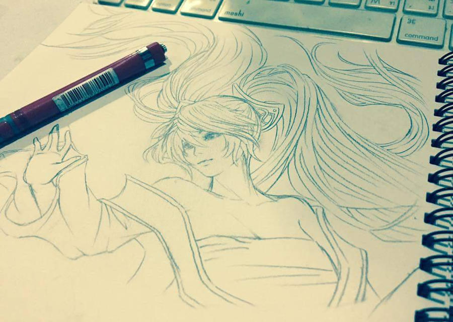 Sona [Quick Sketch] by JTenebiS