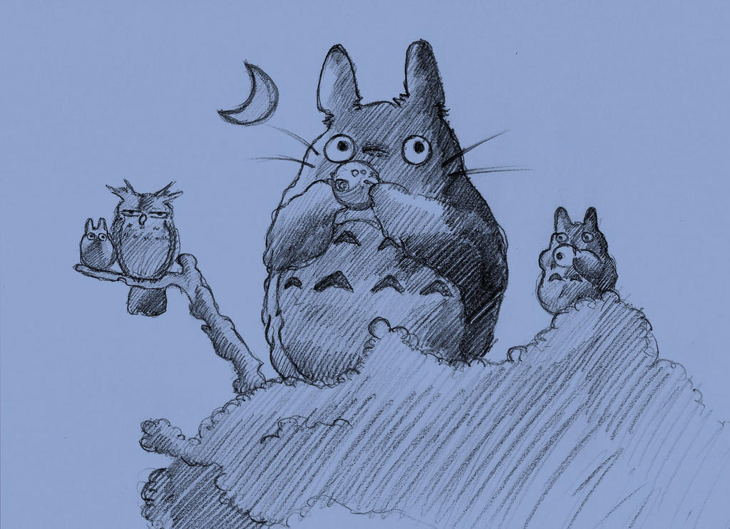Totoro sketch by Marghe-chan