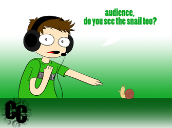 Toby Spots The Snail by TheCrazyCartoonist