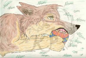 Art trade- Shinta NOMNOM by mossthewolf