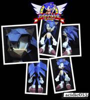 Sonic Papercraft by acidic055