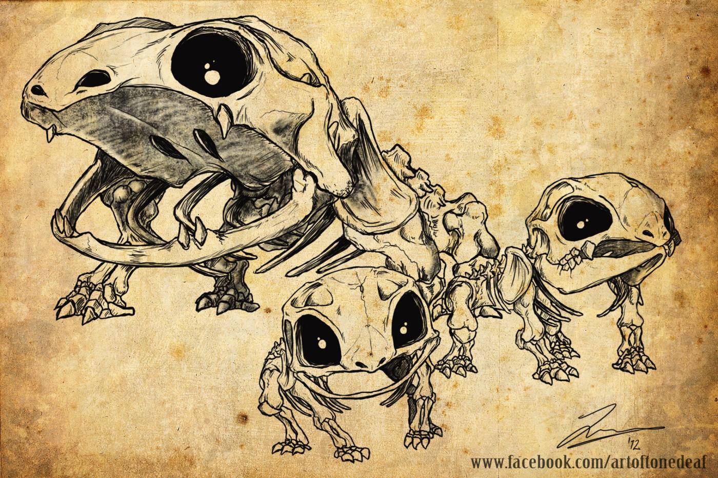 Bulbasaur evolutions skeletons by acidic055