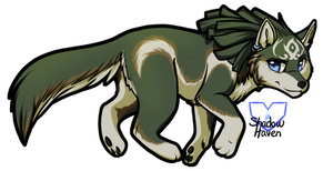 Wolf Link Chibi Speedpainting by Shadow0Haven