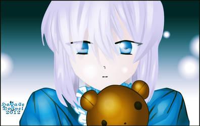 Echo and Teddy Bear by HakaseDespel