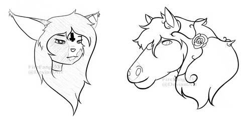 Facebook Headsketches #4 by FireFang1331