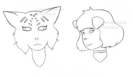 Facebook Headsketches #5 by FireFang1331