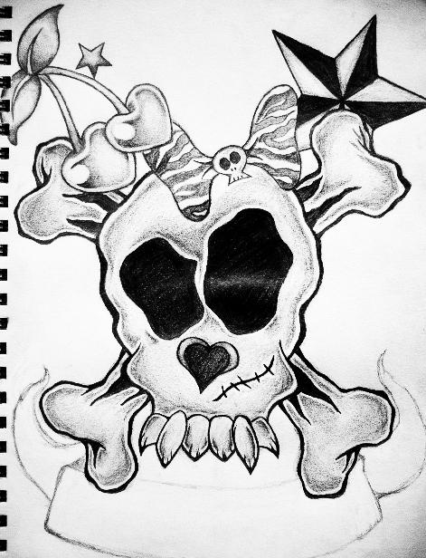 Girly Skulls Tattoo - LiLz.eu - Tattoo DE