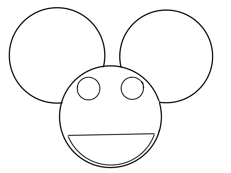 deadmau5 head outline by IItechno-wolfII
