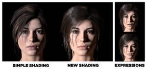 Lara Croft - Skin shaders test