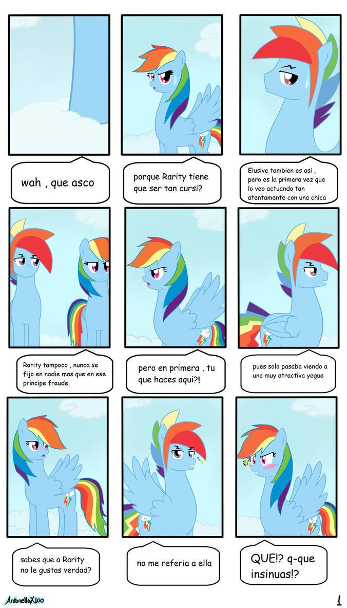 Rainbow Dash y Rainbow Blitz -Comic pag. 1 by AntonellaX100