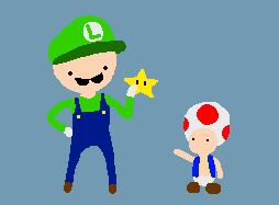 Luigi and Toad by holyphat1