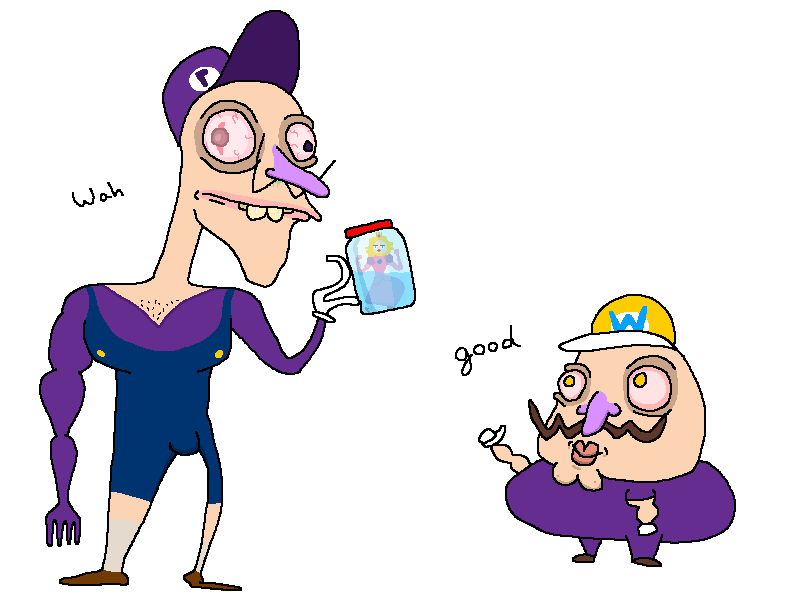 Waluigi and Wario catch the princess by holyphat1