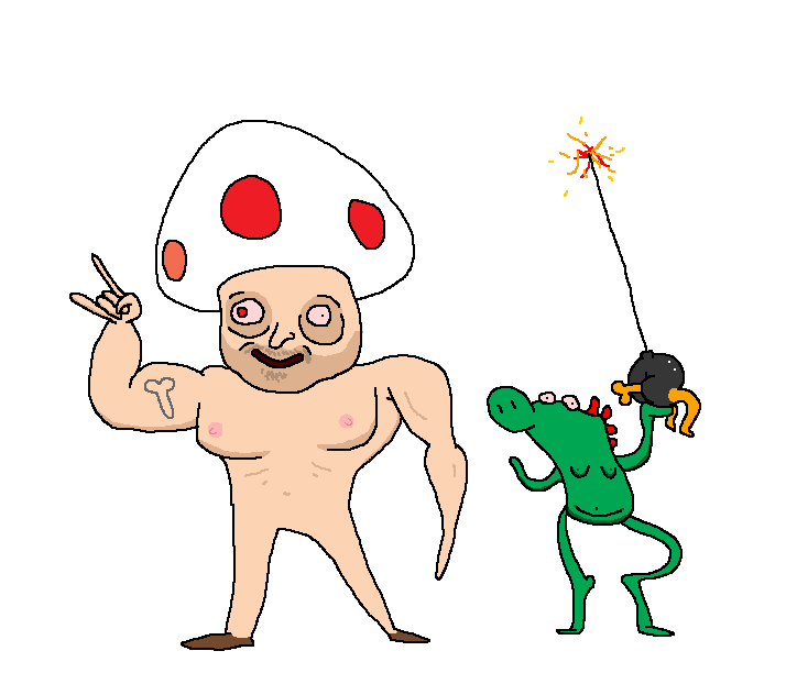 Toad and Yoshi are here to fuck things up by holyphat1