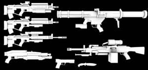 Killzone ISA Weapons Untexed