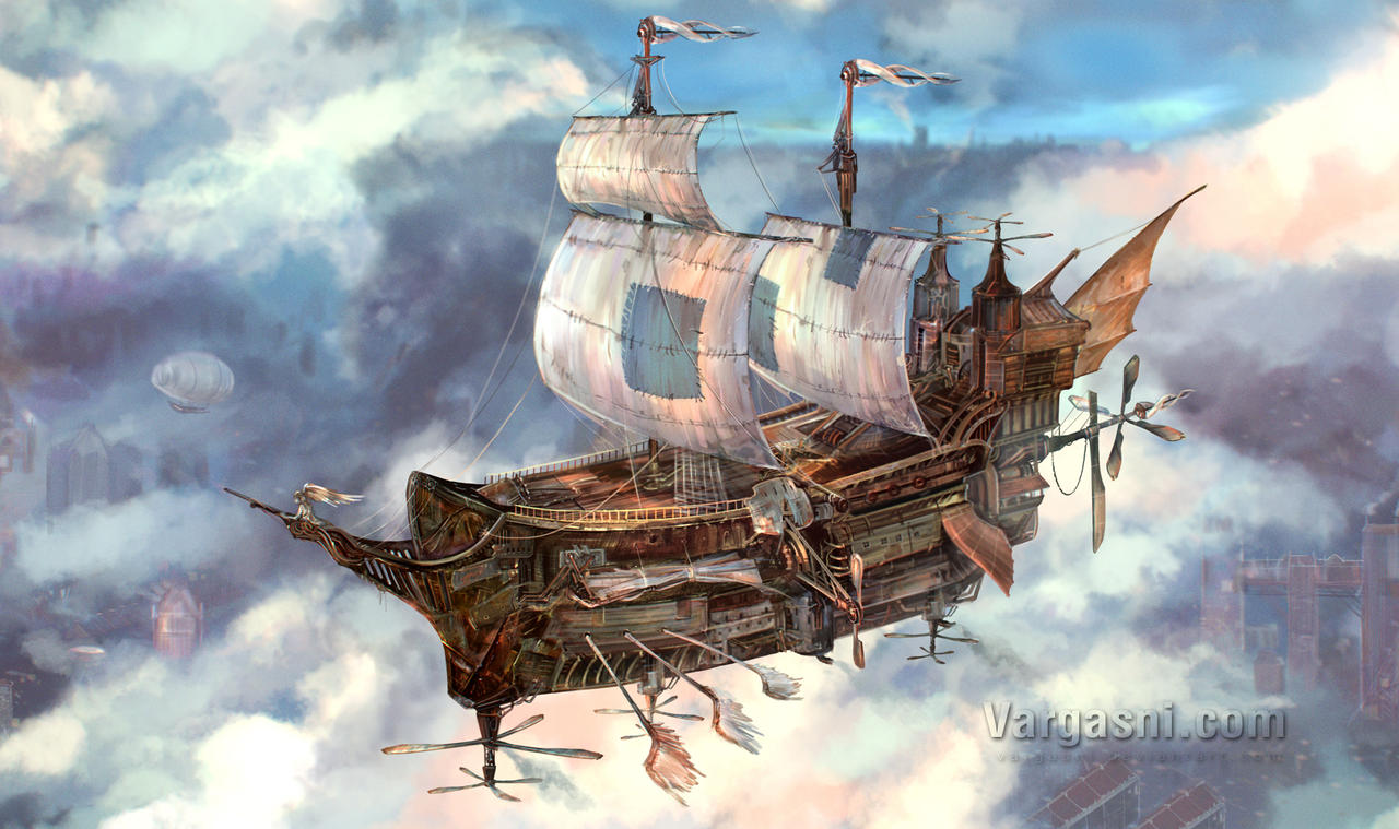 flying boat_commission by VargasNi
