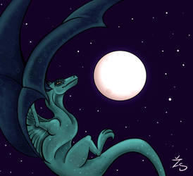 The Dragon and the Moon by Kresli