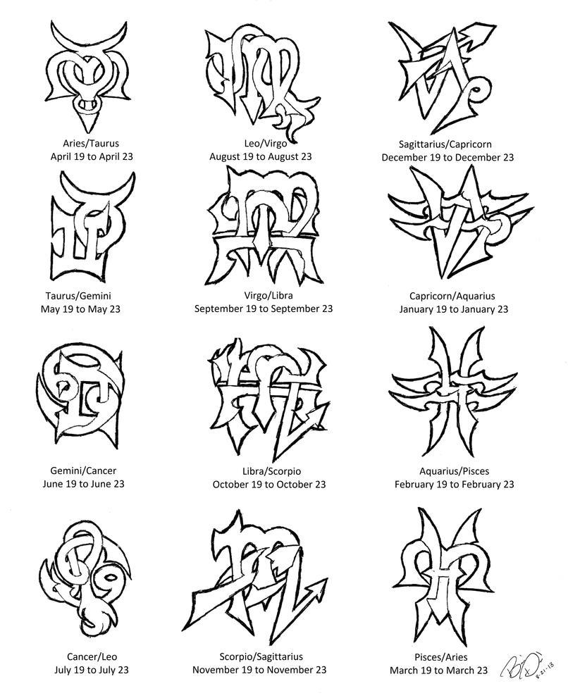 Libra Scorpio Cusp Tattoos