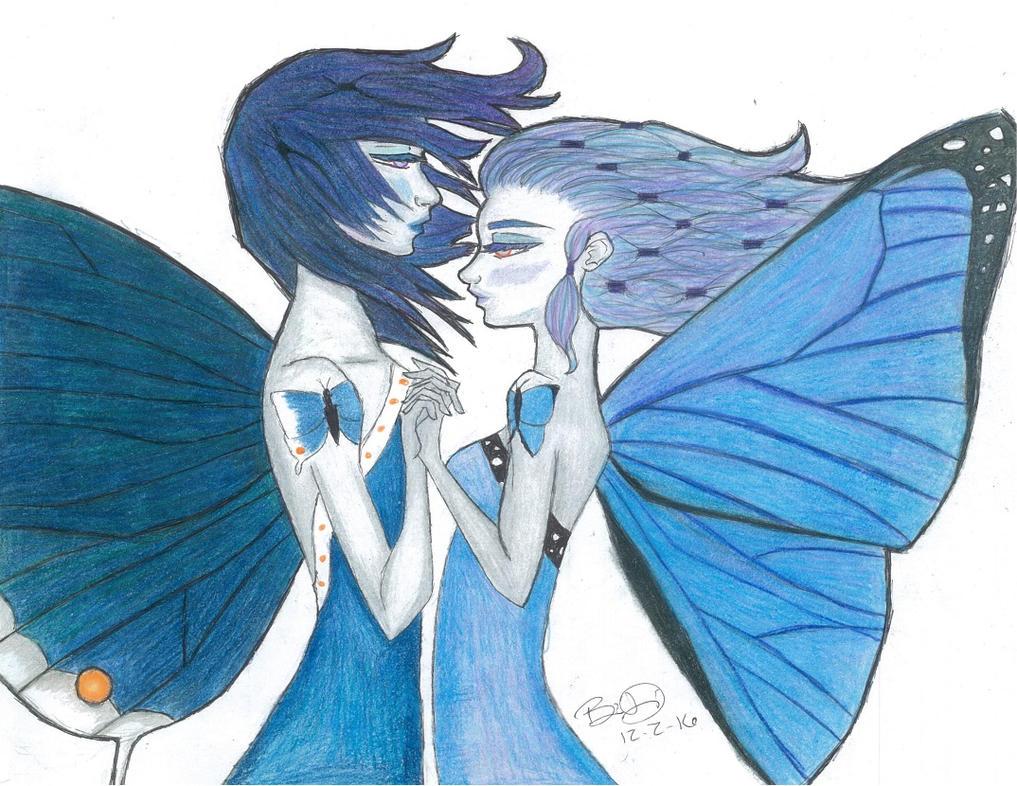 Blue Butterflies by Wolfrunner6996