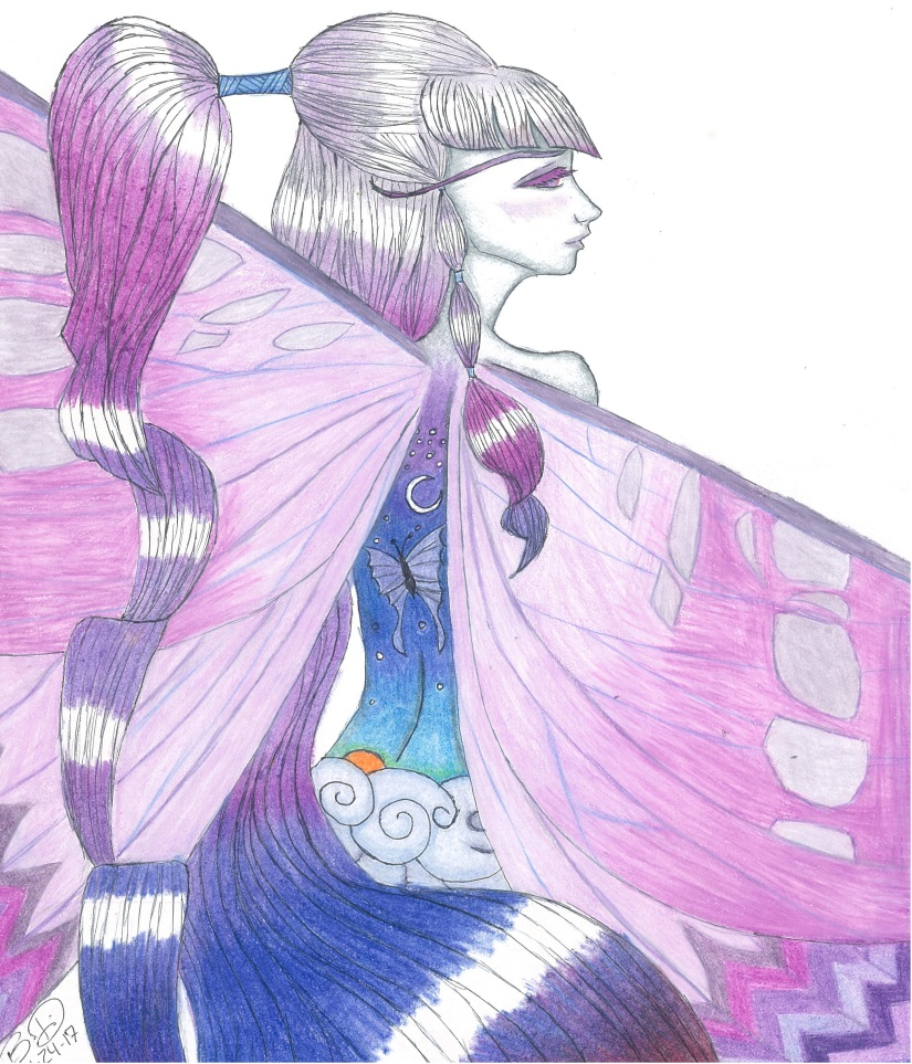 Purple Butterfly Fairy by Wolfrunner6996