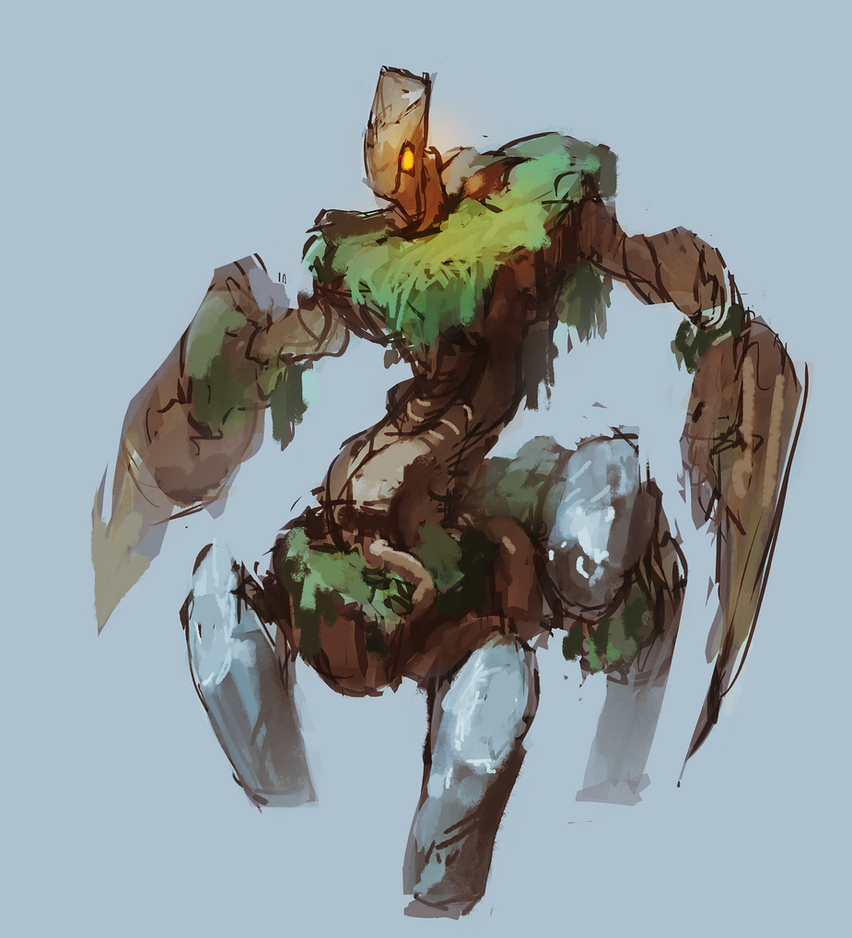Elemental Sketch by moxomo