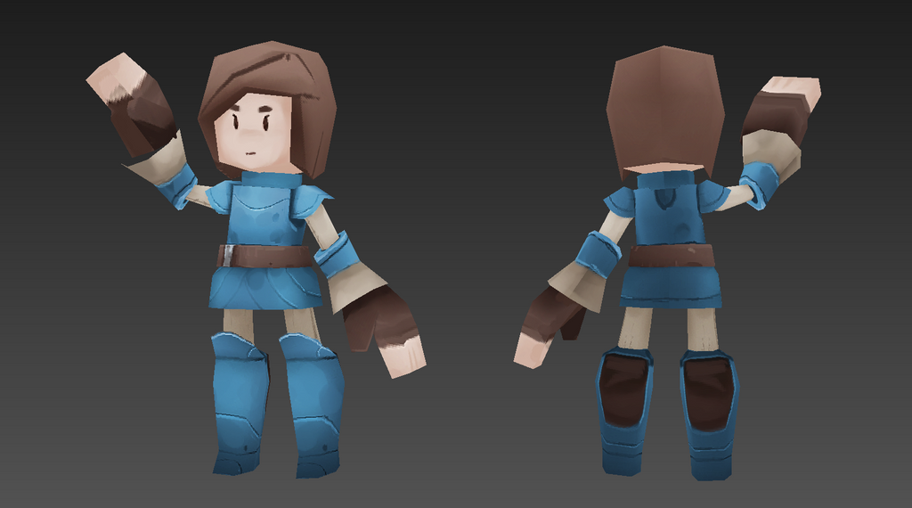 Lowpoly Prototype Protagonist by moxomo