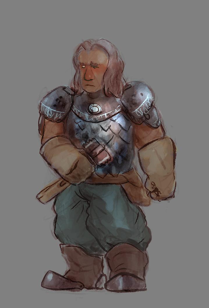 Cleric Dwarf by moxomo