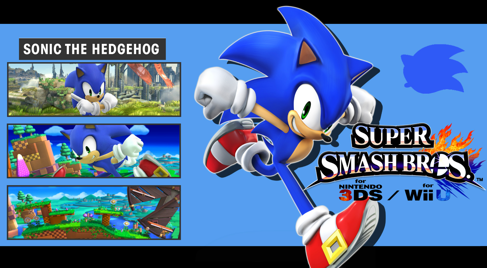 Super Smash Bros 3ds Wii U Sonic Wallpaper By Dakidgaming On