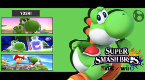 Super Smash Bros. 3DS/Wii U - Yoshi Wallpaper