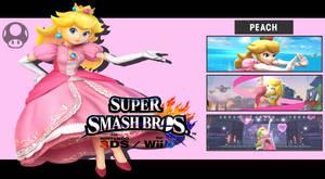 Super Smash Bros. 3DS/Wii U - Peach Wallpaper