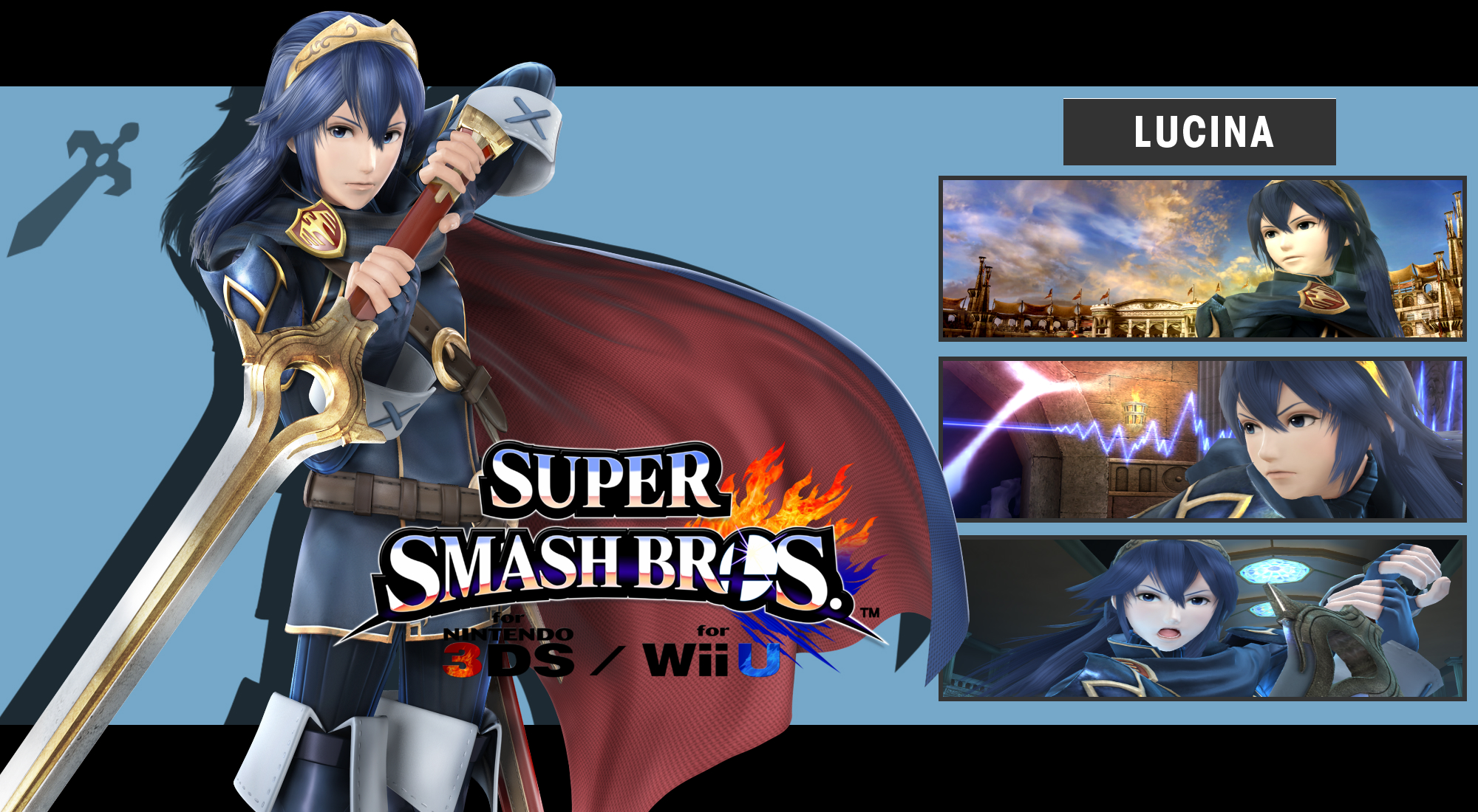 Super Smash Bros. 3DS/Wii U - Lucina Wallpaper by ...