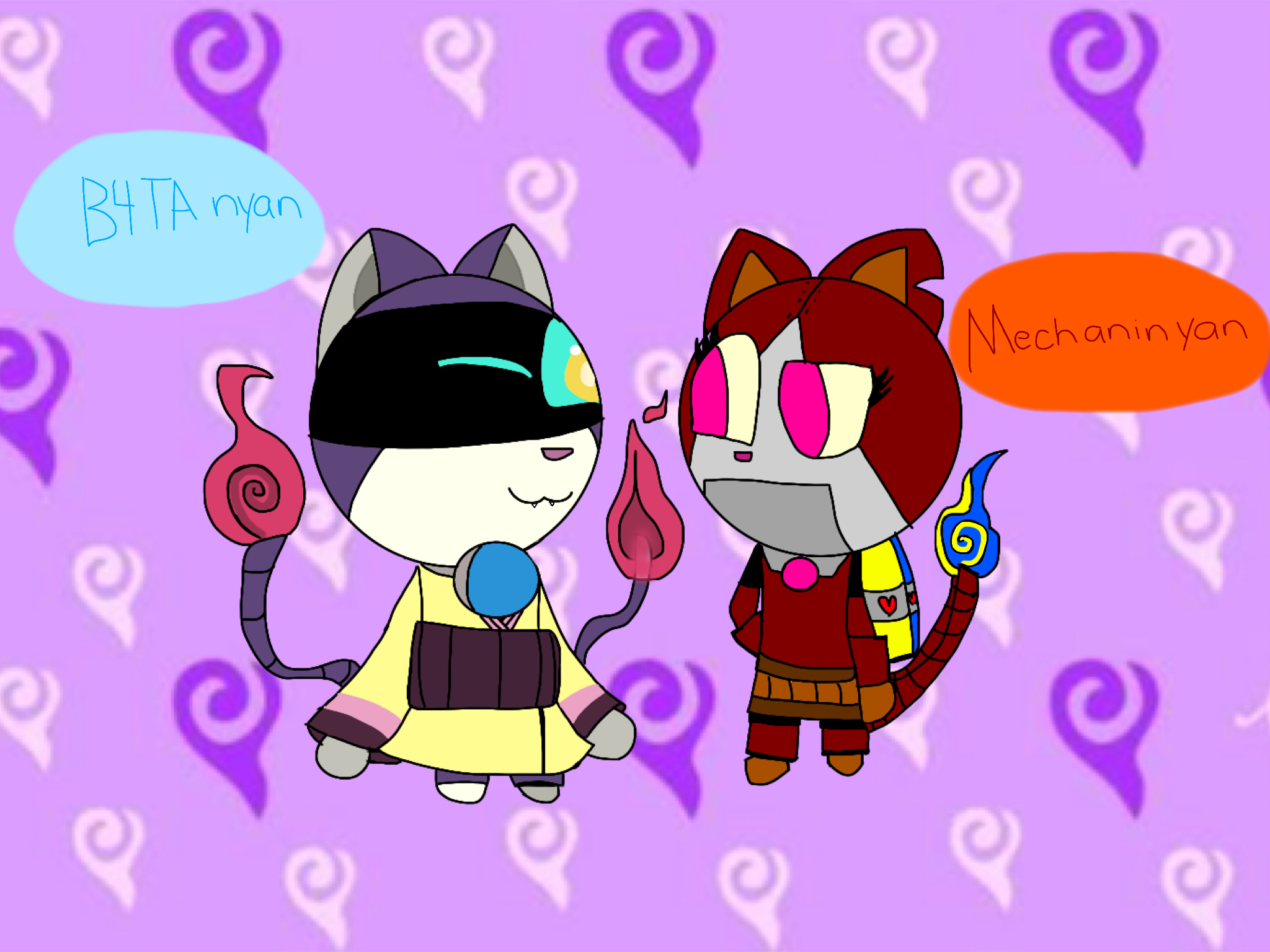 Gift- B4TA nyan and Mechaninyan by allyterry1002