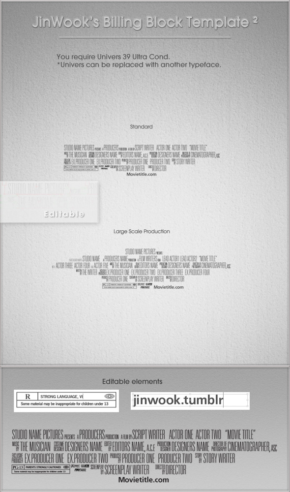 Download Your FREE Movie Poster Template for Photoshop ...