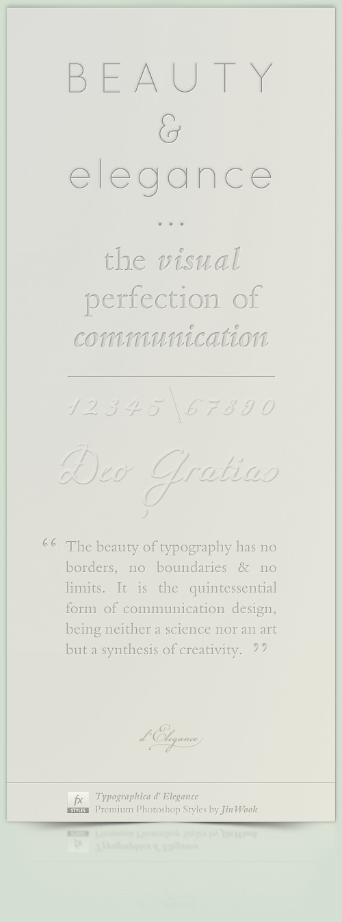 Typographica d' Elegance - Bold Elegant  Poster by elementj
