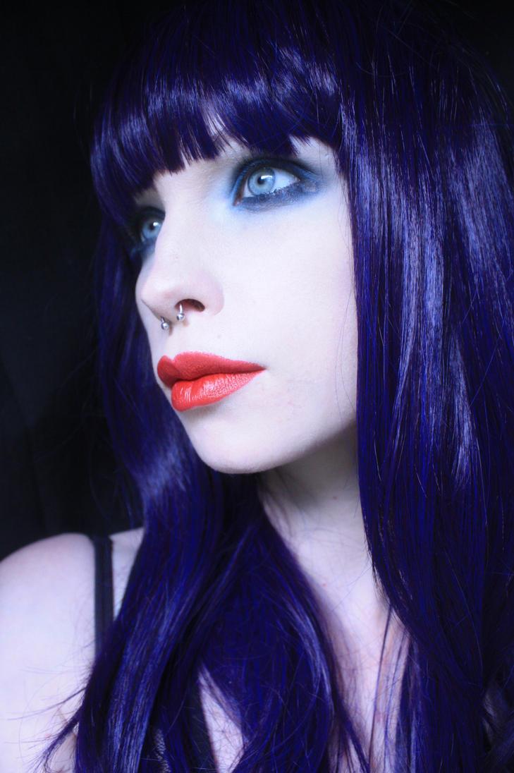 blue hair stock by LadyStarDustxx
