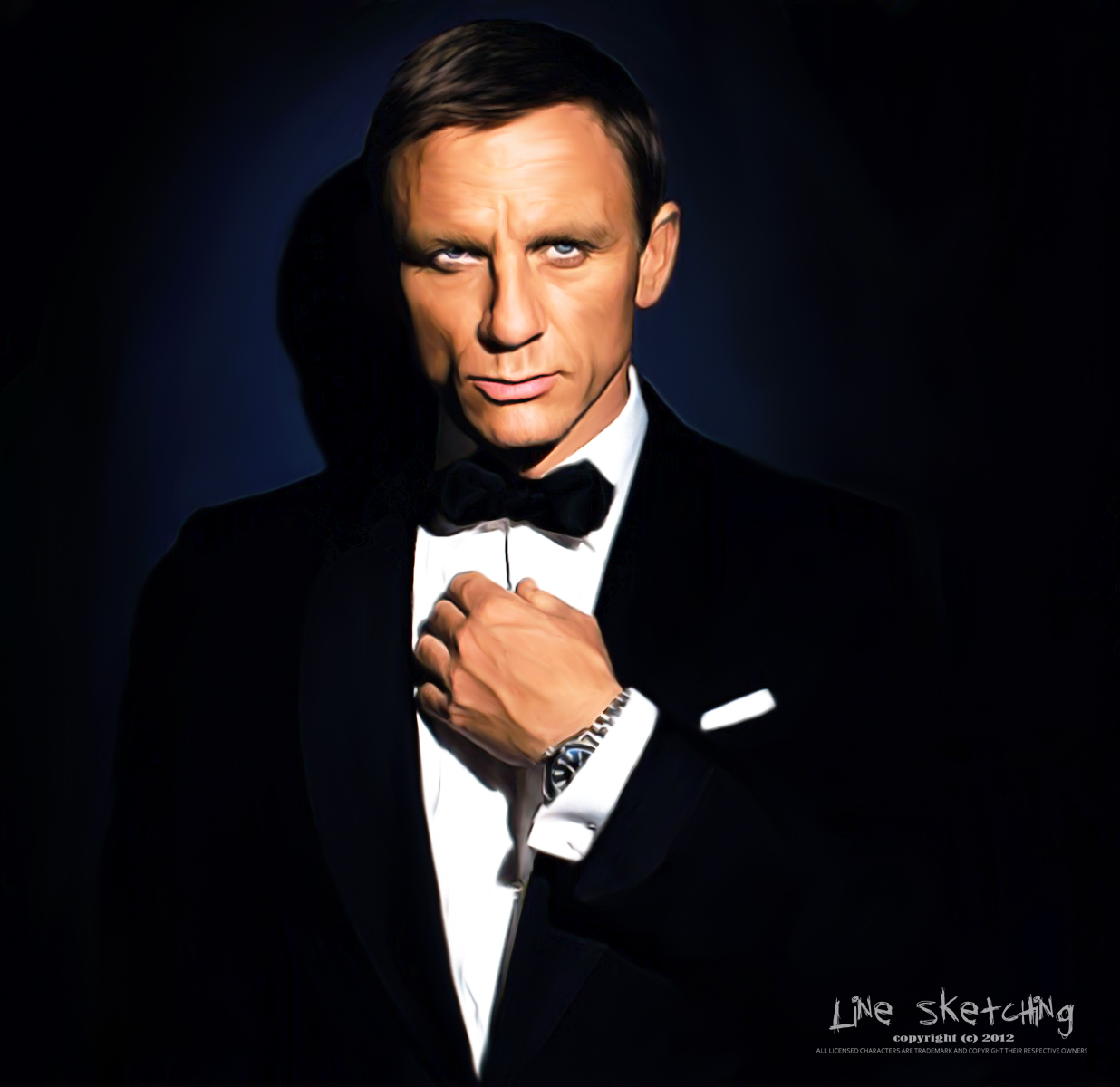 Daniel Craig as James Bond by 171779 on DeviantArt