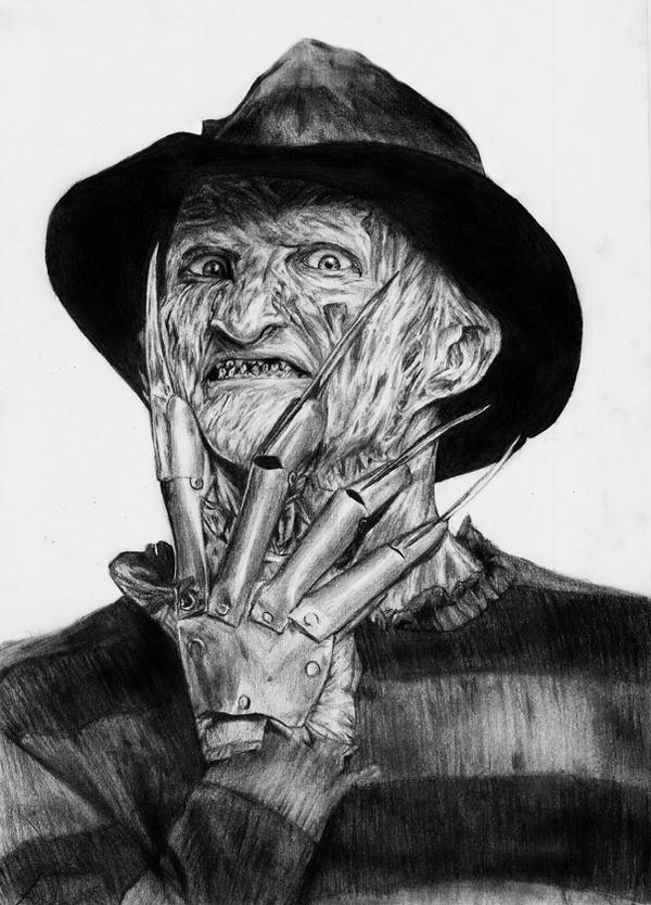 how to draw freddy krueger face step by step easy