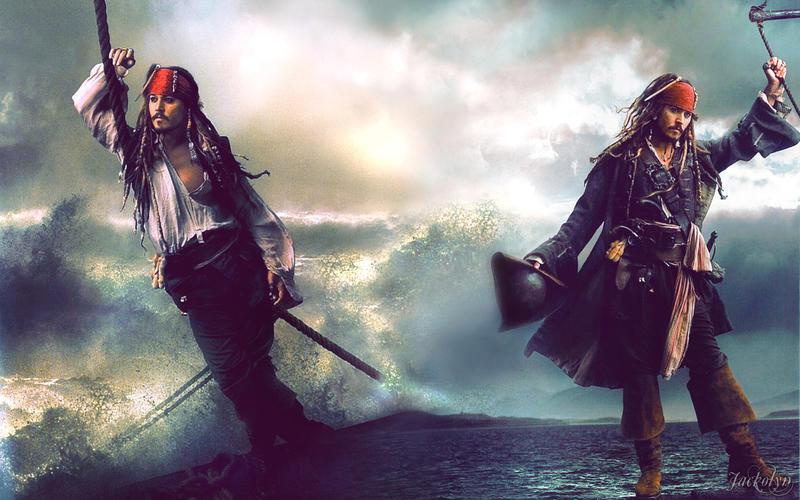 Captain Jack Sparrow Running Wallpaper