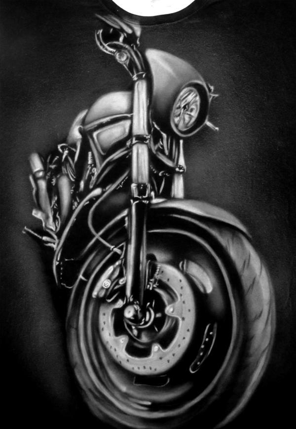 Motorbike T-Shirt by Jackolyn