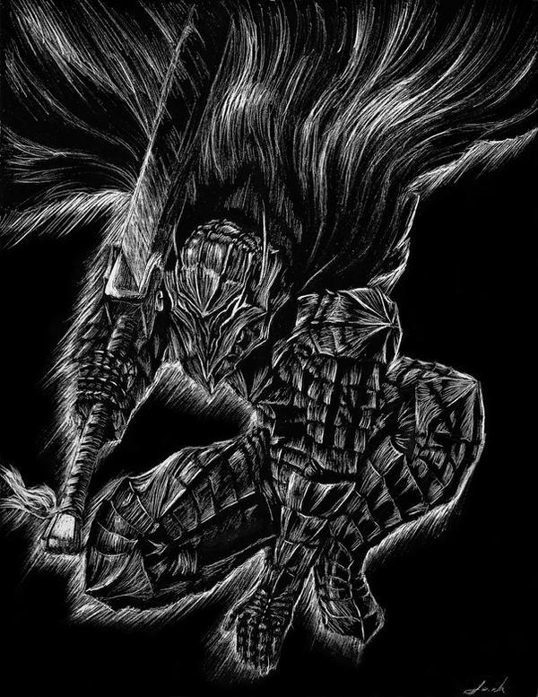 Berserk Scratchboard by Jackolyn