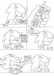 17: Shadow's new phone by supersonikku