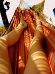 Legs in a Hammock